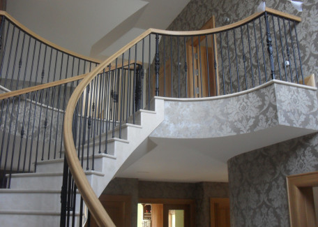 Conway Staircraft Curved concrete stairs marble stairs unique, spiral stairs, elliptical ...