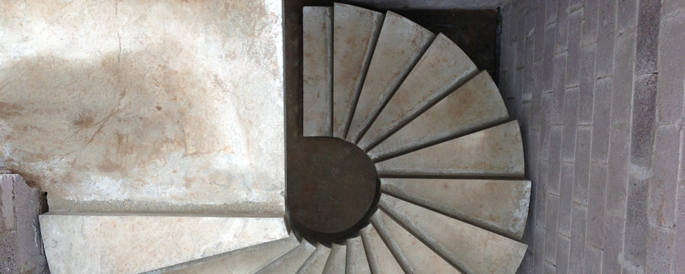 Conway staircraft curved concrete stairs marble stairs for Pre made spiral staircase